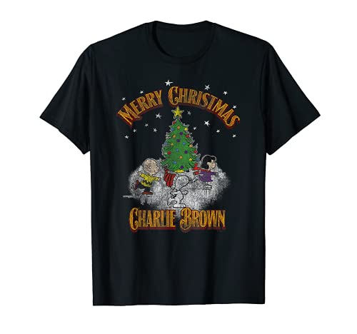 Merry Christmas Charlie Brown T-shirt, Adult and Child Sizes