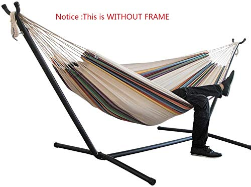 Millster Hammock Stand Hammocks Outdoor Without Frame Double And-Double Hammock Thickened Widened Canvas Indoor Hammock Bed