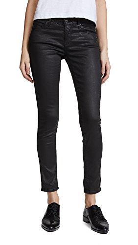 AG Adriano Goldschmied Women's Legging Ankle Coated, Vintage Leatherette Light Black, 27