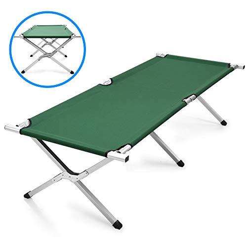 LOY Cama de Camping Impermeable PE - Cuna Individual Plegable al Aire Libre Puede soportar 150 kg, Catre Plegable para Adultos para Senderismo/Viajes/Pesca