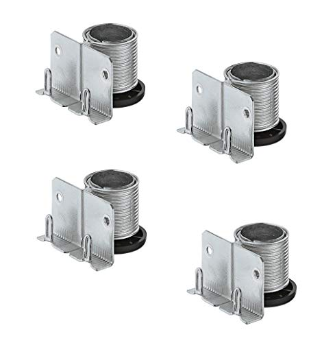 Gedotec Sockelfüße Sockel-Höhenversteller zum Einbohren & Schrauben | Tragkraft 150 kg | Sockel-Verstellfuß Stahl massiv | +20 mm höhenverstellbar | 4 Stück - Möbelfüße Küche mit mit Auflagewinkel