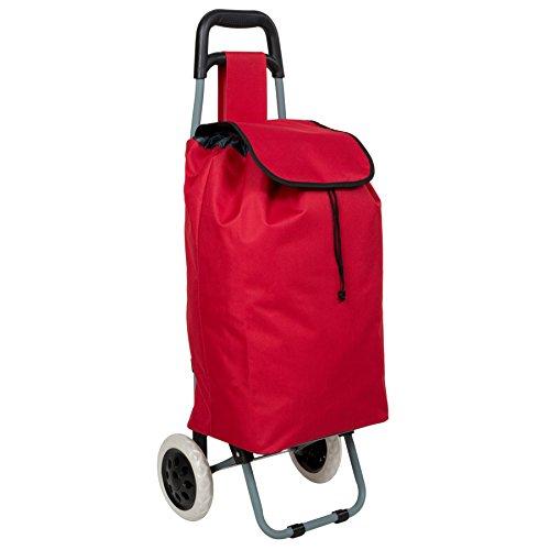 TecTake Einkaufstrolley Einkaufsroller klappbar - Diverse Farben - (Rot | Nr. 401475)