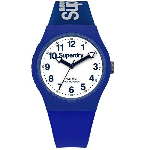 Superdry Reloj Analógico para Hombre de Cuarzo con Correa en Silicona SYG164U