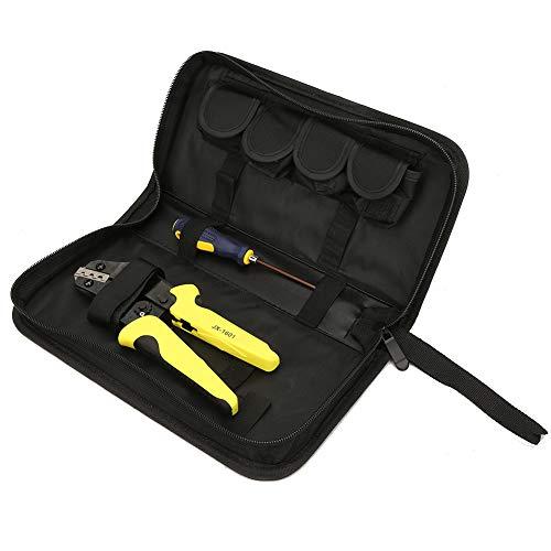 HISUNY - Alicates de crimpado 4 en 1 Juego de crimpadores de alambre de trinquete JX-1601 Alicates de crimpado de cables de matriz Kit de herramientas Herramientas eléctricas