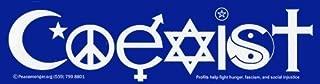 Coexist Bumper Sticker Peacemonger