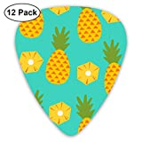 Pineapple Green Guitar Picks - 12 pack