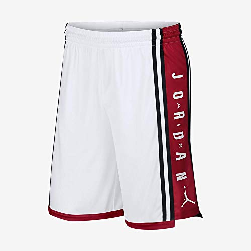 AIR JORDAN Jordan Basketballshort Herren weiß/rot, XL