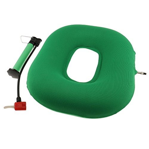 B Baosity Inflatable Chair Cushion Coccyx and Spine Set with Air Pump