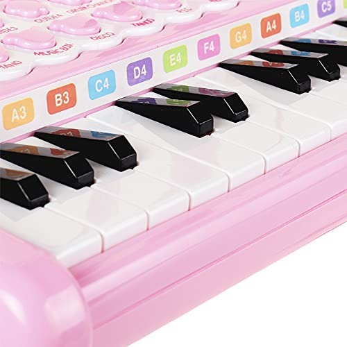 Conomus Piano Keyboard Toy for Kids, 1 2 3 4 Year Old Girls First Birthday Gift , 24 Keys Multifunctional Musical Electronic Toy Piano for Toddlers …
