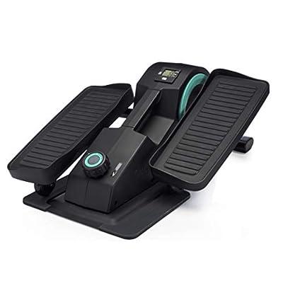 Cubii JR1 Seated Under Desk Elliptical Machine for Home Workout, Mini Elliptical, Desk Bike Pedal Exerciser, Whisper Quiet, Under Desk Pedal Exerciser w/Adjustable Resistance & LCD Display - Aqua