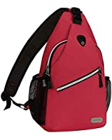 MOSISO Rope Sling Backpack (Up to 13 Inch), Multipurpose Crossbody Chest Shoulder Outdoor Travel Hiking Daypack, Red