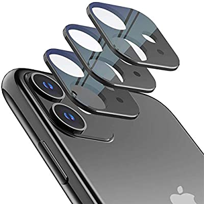 LOZA for iPhone 11 Camera Lens Screen Protector,Metal Frame Slim Bubble Free High Definition 9H Hardness Anti-Scratch Screen Protector Camera Lens for 2019 Newest iPhone 11 6.1'' from LOZA
