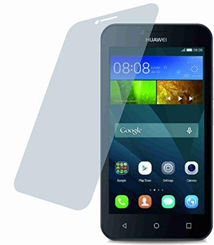 4ProTec I Huawei Y5 (2 Stück) Premium Bildschirmschutzfolie Displayschutzfolie kristallklar Schutzhülle Bildschirmschutz Bildschirmfolie Folie