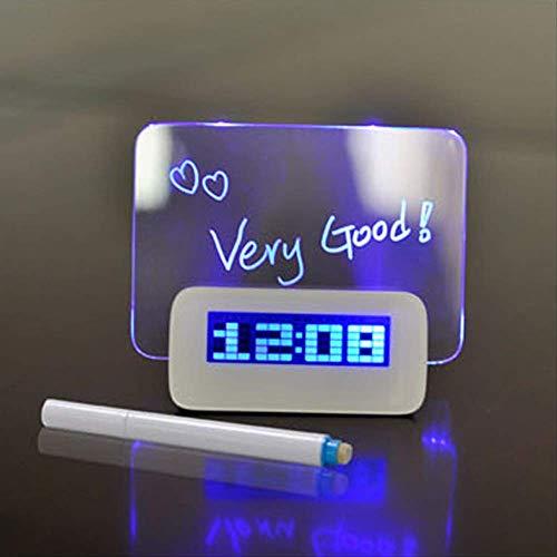 FGHSD digitale klok multifunctionele wekker tekstmarker blauwe LED-lichtbord USB 4-poorts hub LED-klok 1