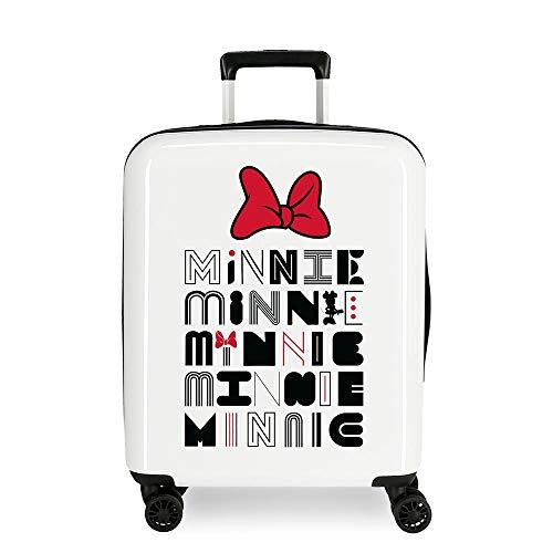 Disney Pretty Minnie Multi-coloured Cabin Suitcase 40 x 55 x 20 cm Rigid ABS Integrated TSA Closure 38.4L 2.6 kg 4 Wheels Double Hand Luggage