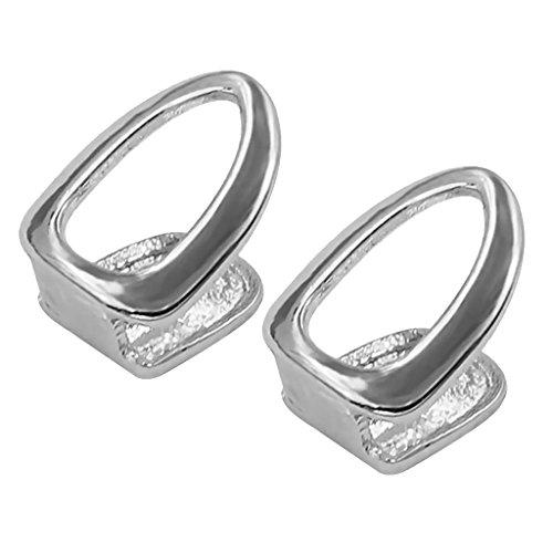 Sharplace 2 STK. Elegante Zahnaufsatz Zahn Kappen, Party Modeschmuck und Geschenck für Musikfans - Farbe Wählen - Silber