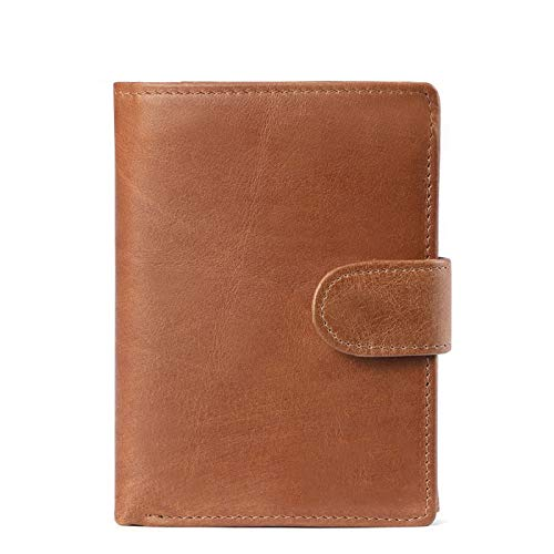 Vintage Wallet for MenWith Coin Pocket RFID Leather Card Holder Big Trifold ID Windows - - 3.93x0.78x5.11