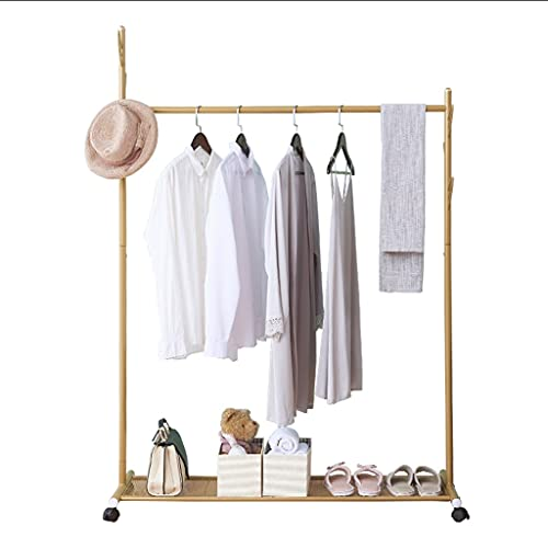 LICHUAN Perchero de metal para el hogar, con estante de almacenamiento, para el pasillo de entrada, árbol creativo, fácil montaje (color: dorado, tamaño: 119 cm)