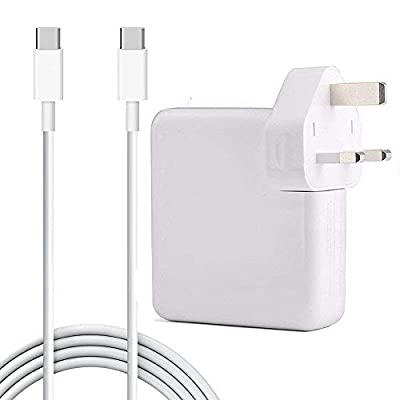 61W USB C Power Adapter Compatible with Macbook Pro Charger, Qinuker Usb Type C Laptop Charger for 12 13 inch with 6.56ft USB-C to USB-C Charge Cable (UK/EU/US/JP Plug for Traveling)