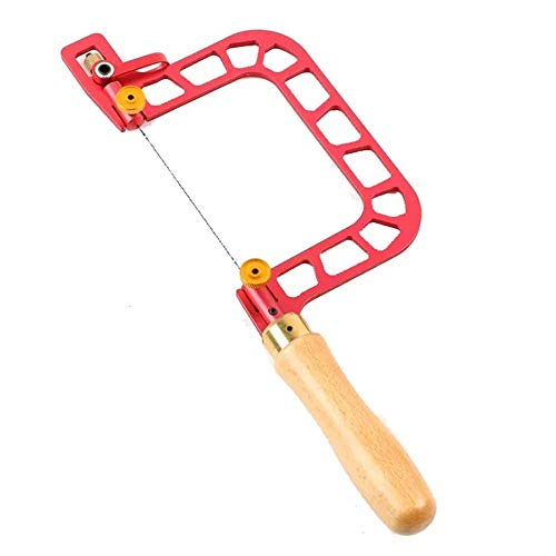 ZXCVB Saw-Rahmen-Kit, Sägemaßrahmen, U-förmige Handsäge mit Hebelspannungssäge Handwerkzeug Spiralsägeblatt für Jade-Stein-Keramik-Glas-Holz-Metall,4in