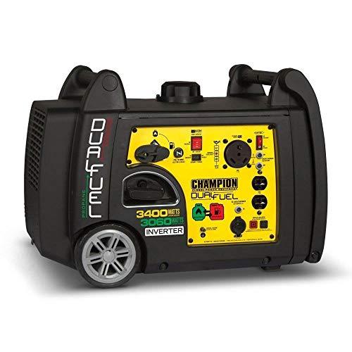 Champion 3400W Inverter Dual Fuel Generator (2) w/Champion 50A Parallel Kit
