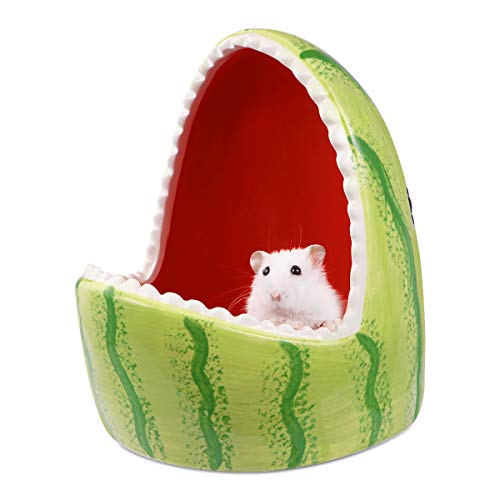 POPETPOP Small Animal House Ceramic Hamster Hideout Small Animal Nest Habitat for Hamsters Gerbils Rats