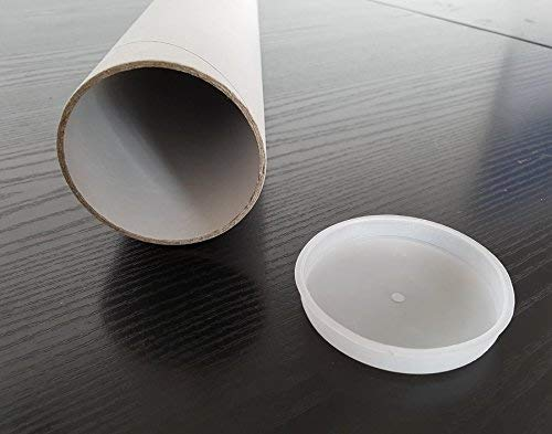 Lote de 10 tubos portadisegni y Impresiones de cartón robusto y tapones de plástico para...