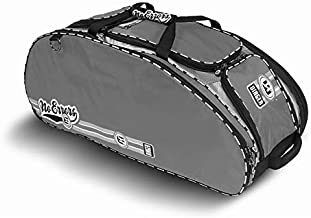 No Errors Dinger II Baseball Bat Bag - Heavy Duty Youth Baseball and Softball Bag with Hideaway Fence Hooks and Wheels - Holds 4 Bats, Gloves, Helmet and Cleats