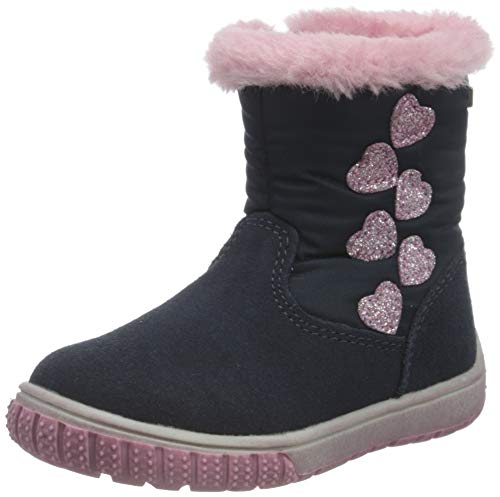 Lurchi Baby-Mädchen JOLA-TEX Alltags-Stiefel, Navy, 20 EU