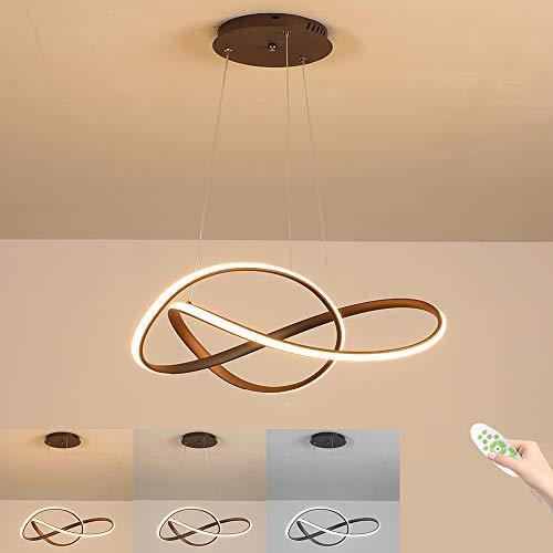 Lampada a Sospensione LED Lampada da Soffitto, 37W 3700Lumens Lampadario Plafoniera, Dimmerabili con...