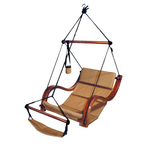 Hammaka Nami Deluxe Hanging Hammock Lounger Chair In Tan