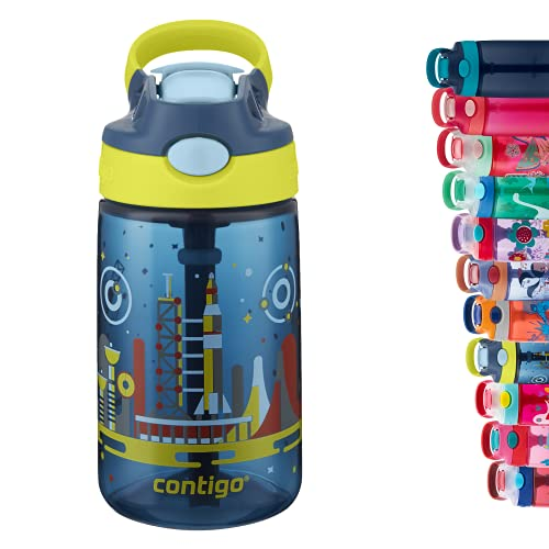 Contigo Gizmo Flip Botella, Unisex-Baby, Nautical Blue with Space, 420 ml