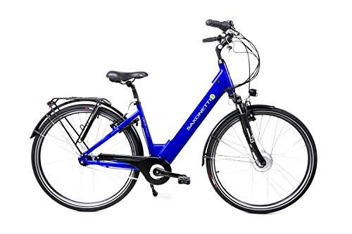 28 Zoll Saxonette Comfort Plus 2.0 Elektro E-Bike Pedelec City 7 Gang 36V Damen blau B-Ware