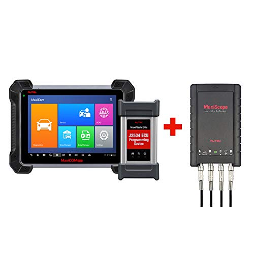 Autel MaxiCOM MK908P Diagnostic Scanner Automotive Scan Tool with ECU Programming and J2534 Reprogramming + Free Oscilloscope MaxiScope MP408