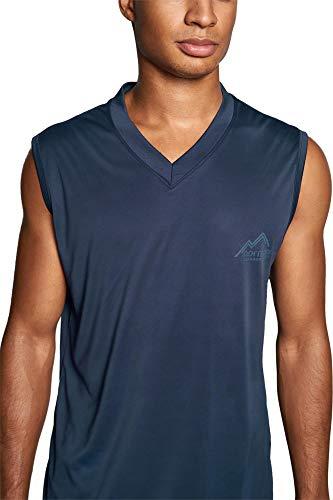 normani Herren Sport Shirt Fitness Tanktop Unterhemd Muscle-Shirt Ärmellos Trägershirt Trainings-Shirt S-4XL Farbe Navy Größe 3XL/58