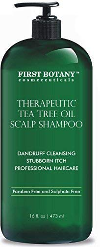 Tea Tree Oil Shampoo 16 fl oz - Anti Dandruff Shampoo Natural Essential Oil For Dry Itchy & Flaky...