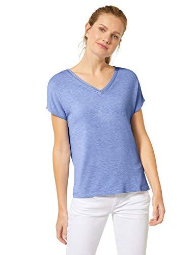 Street One Damen 314802 T-Shirt, Vapor Blue Melange, 38