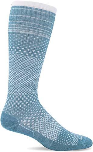 Sockwell Women's Micro Grade Moderate Graduated Compression Sock, New Mineral - M/L