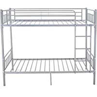 Metálicas sola litera 2 persona bastidor de la cama los niños muebles de dormitorio con dos camas (litera de plata),Silver