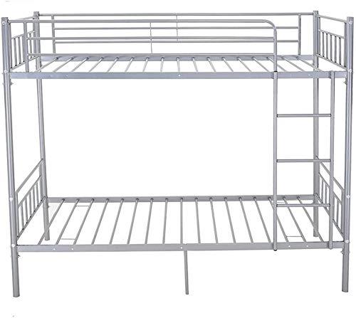 Litera muebles de dormitorio los niños marco de la cama doble 2 metal persona sola,Silver