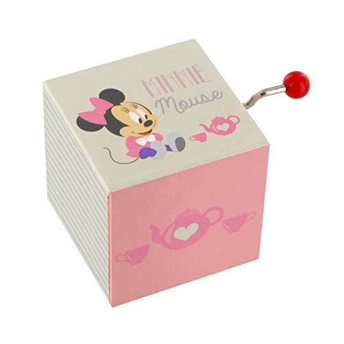 Lutèce Créations Caja de música/Caja Musical de manivela de Madera con Mecanismo Musical de 18 Notas y Personaje de Walt Disney (Minnie Mouse Baby) - Romeo y Julieta (Nino Rota)