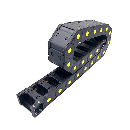 MOUNTAIN MEN Professional Tools, 25x100mm 40' Wire Carrier Cable Drag Chain Semi-enclosed Interior Opening For CNC Router Machine Tools Industry,Machines