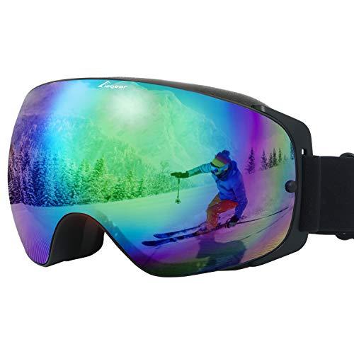 Elegear Ski Gafas Snowboard Gafas Esquí Gafas esquí Hombre OTG Montura Entera...