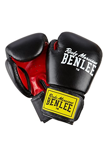 BENLEE Rocky Marciano Fighter Boxhandschuhe, Black/Red, 18 oz