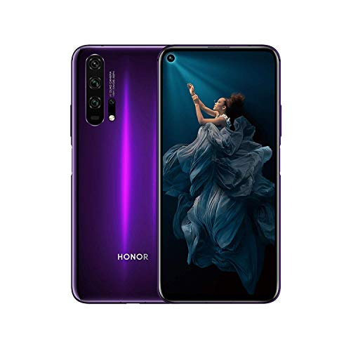 HONOR 20 Pro Smartphone Dual-SIM, Telefono Cellulare in Vetro Curvo 3D da 8GB 256GB, Android 9.0, Fotocamera Quad AI da 48MP, Cellulari Kirin 980 CPU Google Play NFC, Bluetooth BT5.0, Viola