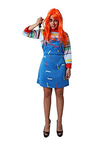 Costumizate! Disfraz de Muñeca asesina para Adulto Talla Unica Halloween