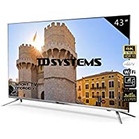 Televisores Smart TV 43 Pulgadas 4K / Android 9.0 / Hbbtv / 1300 PCI Hz/ 3X HDMI/ 2X USB/UHD HDR10/ DVB-T2/C/S2/ Televisiones Led TD Systems K43DLJ10US