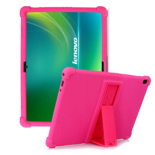 HminSen Silicone Stand Case for Lenovo Smart Tab M10 10.1 inch ONLY FITS Tablet Models TB-X605F, TB-X505F,I,L,X and P10 (TB-X705F) Tablet. (Rose)