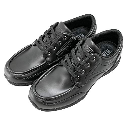 [エドウィン] カジュアルシューズ メンズ 革靴 防水 軽量 3e ビジネスカジュアル 靴 スニーカー シューズ 大きいサイズ ビジネスシューズ 幅広 スリッポン 厚底 人気 サイドジップ edm458 黒 BLACK 28.0cm