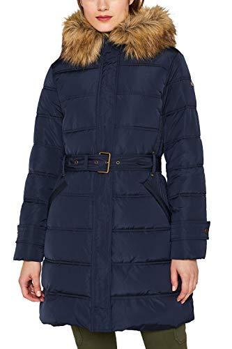 ESPRIT Damen 099Ee1G007 Mantel, 400/NAVY, Small (Herstellergröße: S)